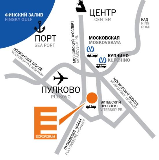 как добраться до Экспофорума Санкт-Петербург