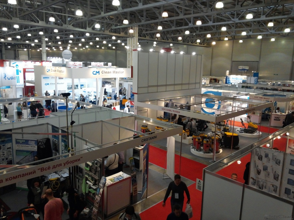 Общие виды выставки CleanExpo Moscow 2014 в КВЦ Крокус Экспо