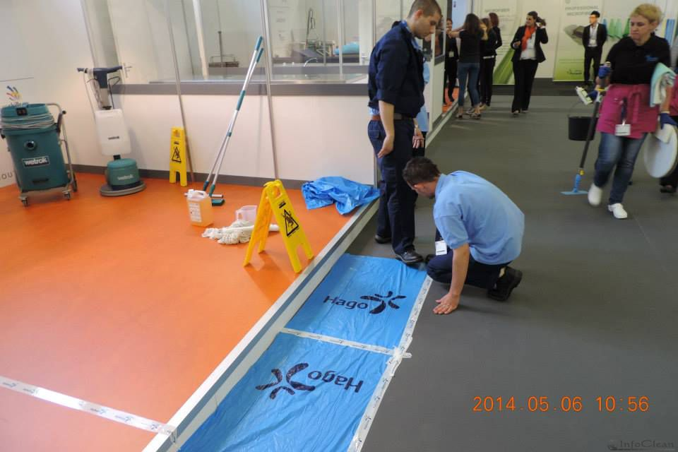 Конкурс клинеров на выставке ISSA/INTERCLEAN 2014 в Амстердаме